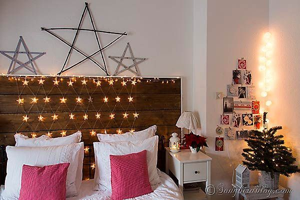 Using christmas lights in bedroom - 22 Ideas Para Decorar Con Luces Navide 241 As Sin Esperar A La Navidad