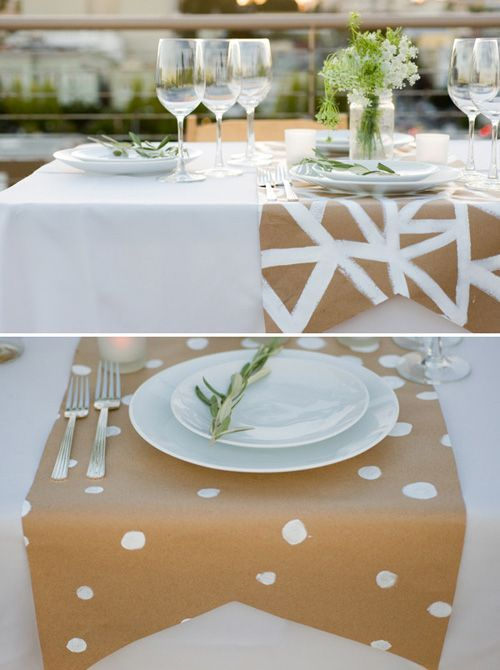 Diy divertidos y originales manteles con papel kraft casas increibles - Manteles originales ...