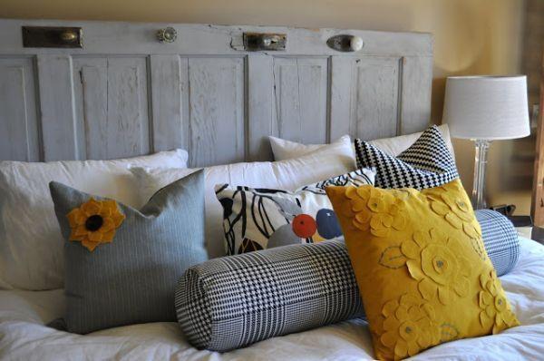 12 ideas creativas para el cabecero de tu cama casas - Cabeceros originales hechos a mano ...