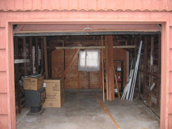 how to clean an old garage