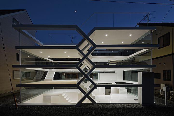 Imponente casa completamente transparente en Japón