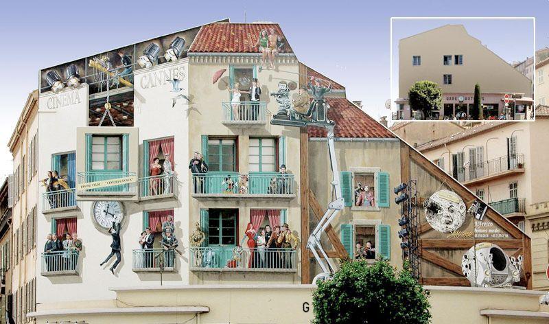 Artista decora las fachadas vac as de toda francia haci ndolas parecer otras distintas casas - Pintar la fachada de mi casa ...
