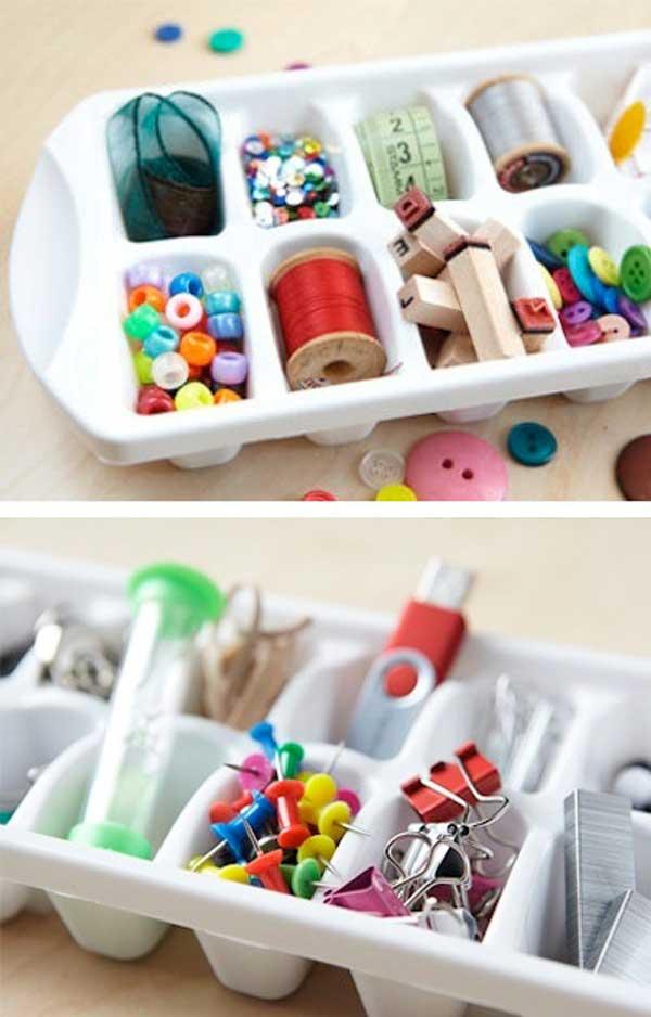 organizador objetos pequenos utensilios cocina reciclados cubitera plastico
