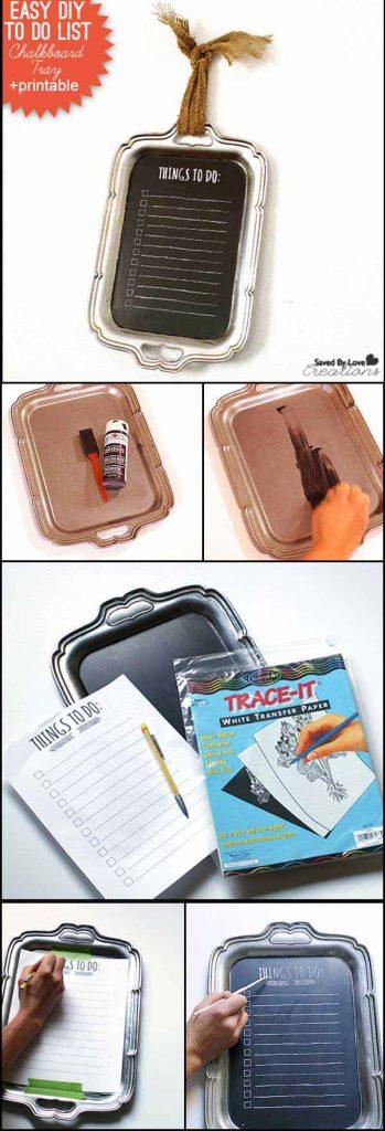 pizarras soportes papel utensilios cocina reciclados bandejas