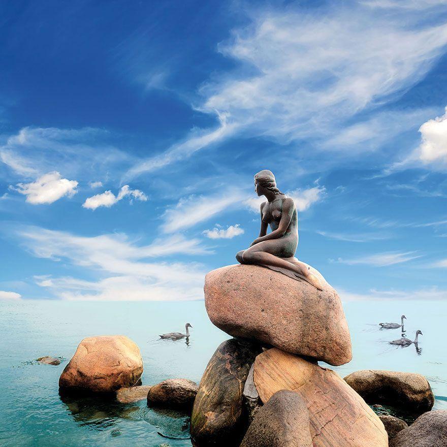 lugares-conocidos-vistos-otra-perspectiva-sirena-copenhage