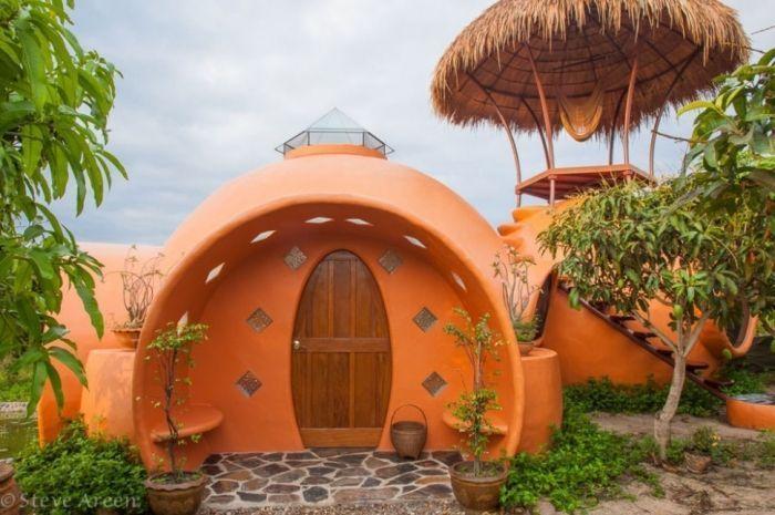 tiny house casa pequena construida ceramica boveda