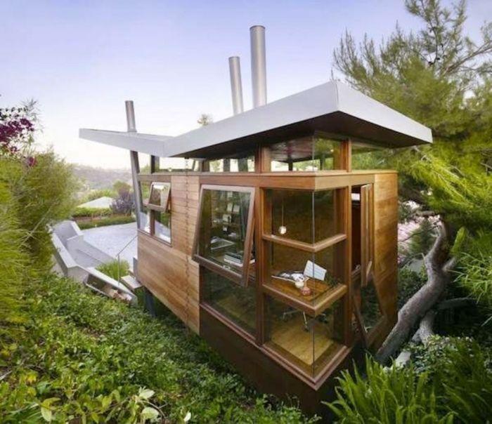 tiny house casa pequena construida arbol moderna diseno madera