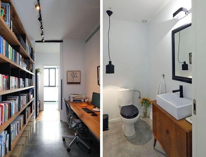 despacho apartamento lavabo blanco