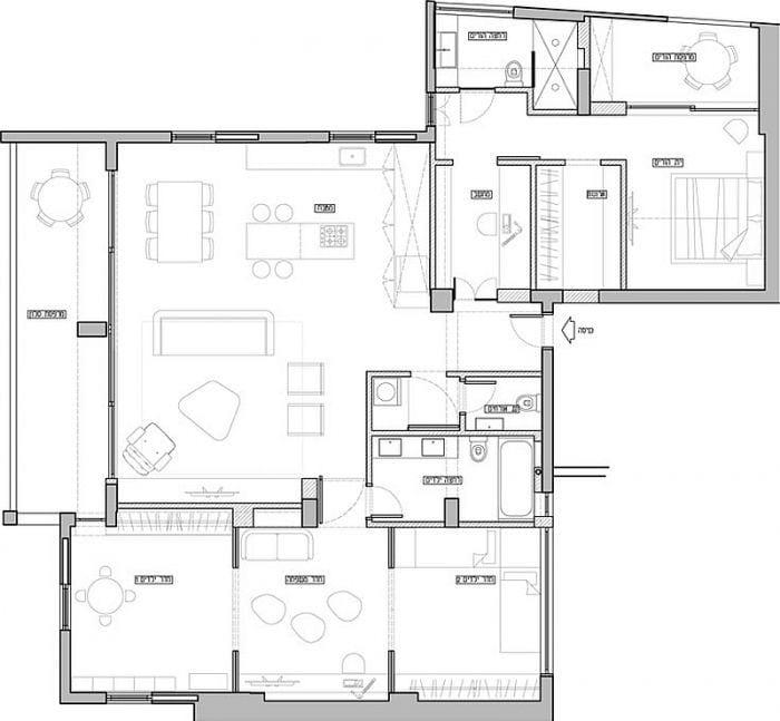 planos apartamento remodelado dos pisos