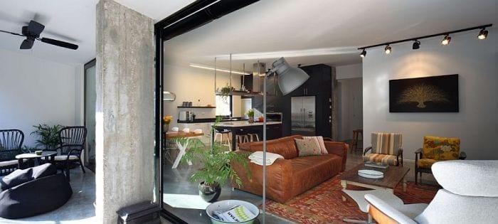 exterior apartamento vista interior sala estar