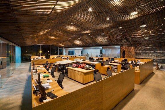 techo bambu fabrica despachos mesas ordenadores