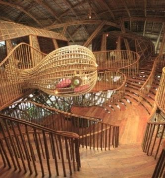 casas bambu 100% escaleras rampas diferentes espacios destacada