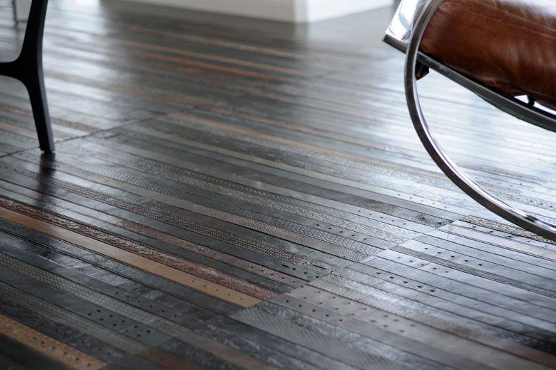reciclar cinturones viejos detalle alfombra lujo
