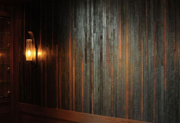 reciclar cinturones viejos detalle pared verticales