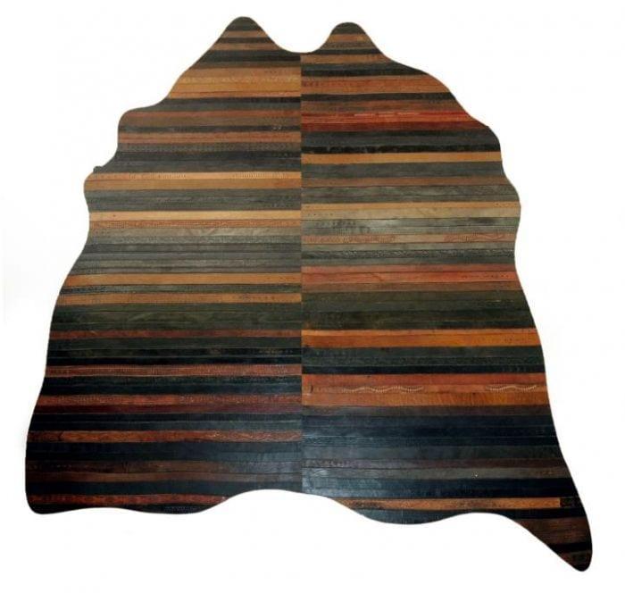 reciclar cinturones viejos alfombra lujo forma organica