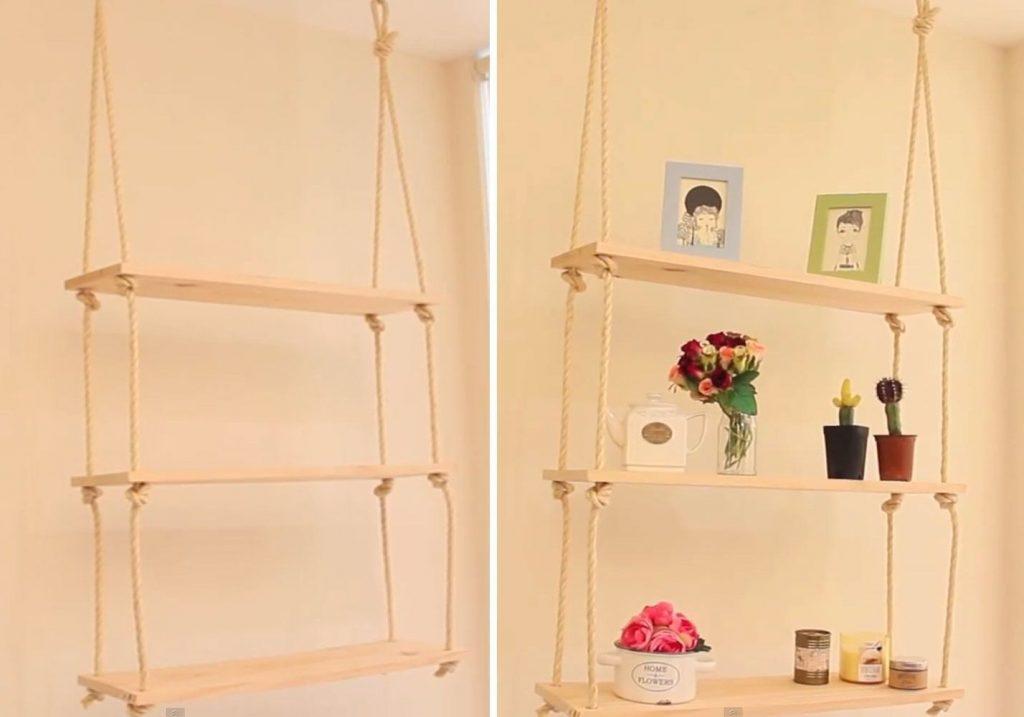 aprender a hacer estanter as colgantes de forma f cil y On estantes colgantes pared