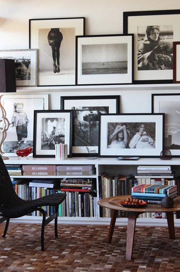 18 ideas para llenar una pared con cuadros - Casas IncreiblesCasas ...