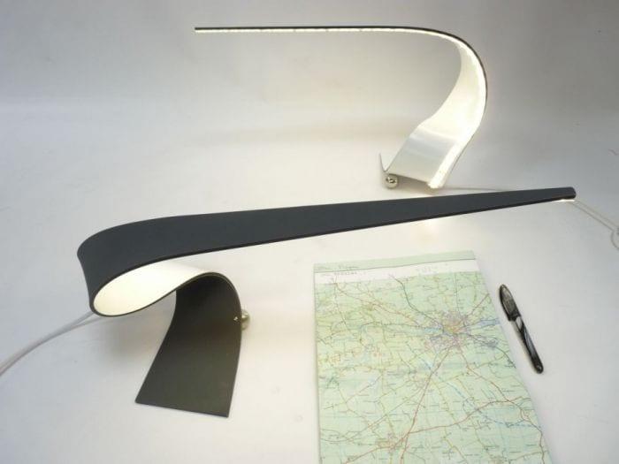 lampara diseno leds forma abstracta mapa