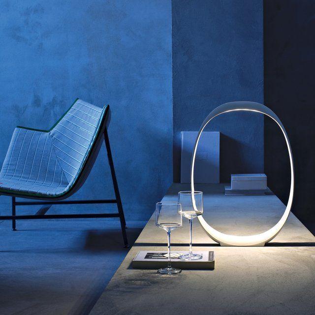 lampara diseno circular luz interior mesa sillon copas