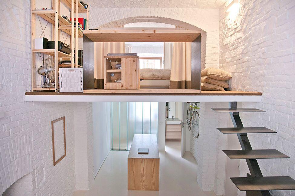 loft diseno escandinavo 2 alturas paredes blancas