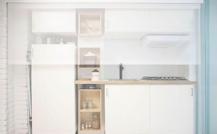 loft diseno escandinavo cocina frigorifico