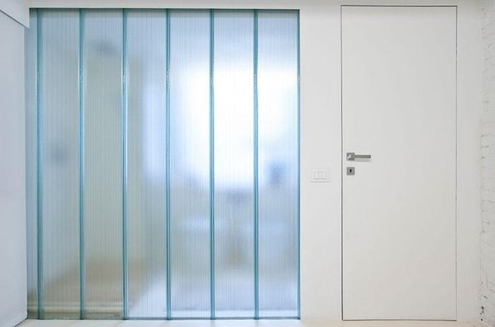 loft diseno escandinavo puerta lanca entrada cristal puerta