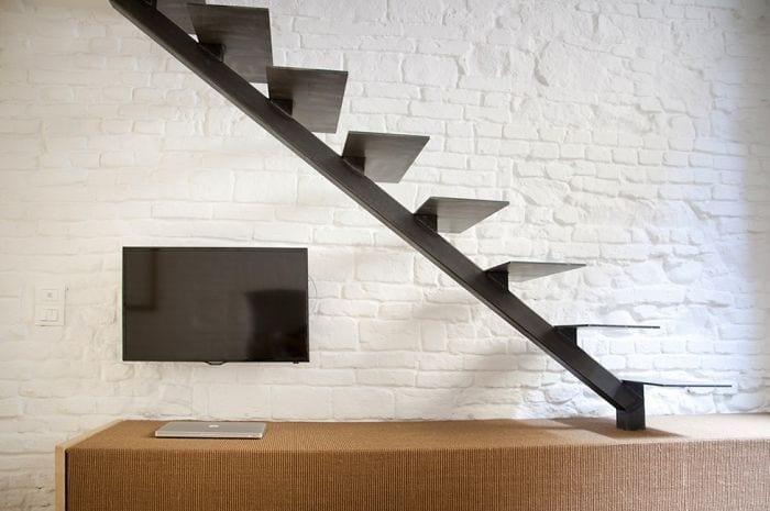 loft diseno escandinavo escalera ordenador