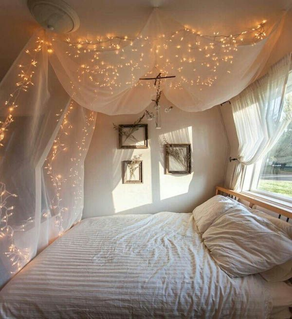 22 ideas para decorar con luces navide as sin esperar a la - Luces para habitaciones ...