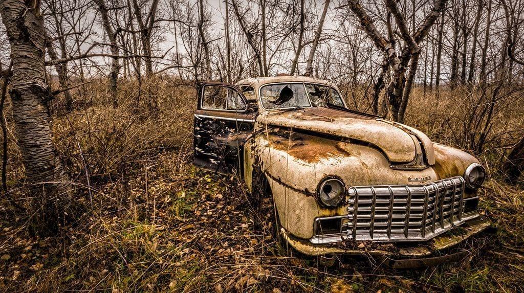 lugares reales tetricos coche abandonado seneca