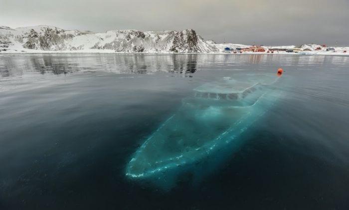 lugares reales tetricos barco hundido antartida