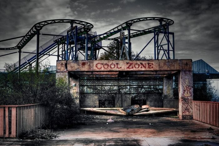 lugares reales tetricos parque atracciones abandonado