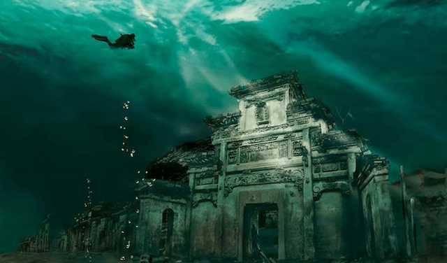 lugares reales tetricos edificio ciudad sumergida shicheng