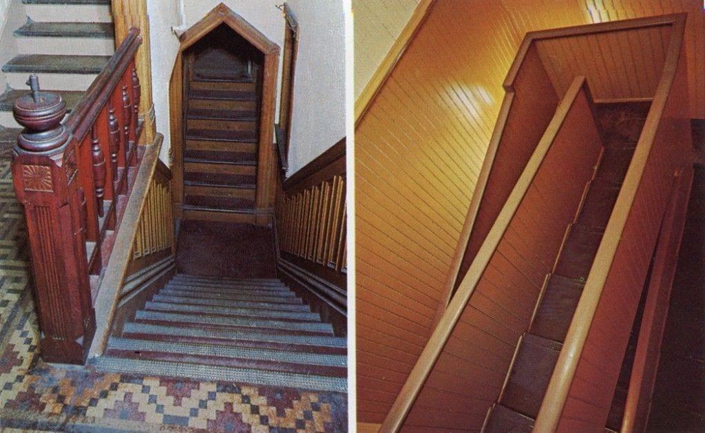 escaleras vivienda sarah winchester formas raras 2 tipos