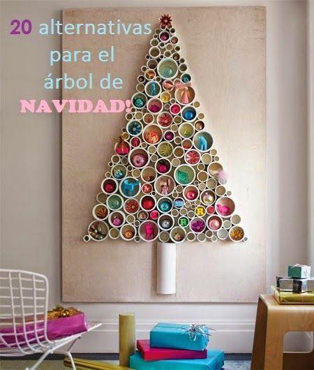 20 alternativas creativas al t pico rbol de navidad for Ideas decoracion navidad colegio