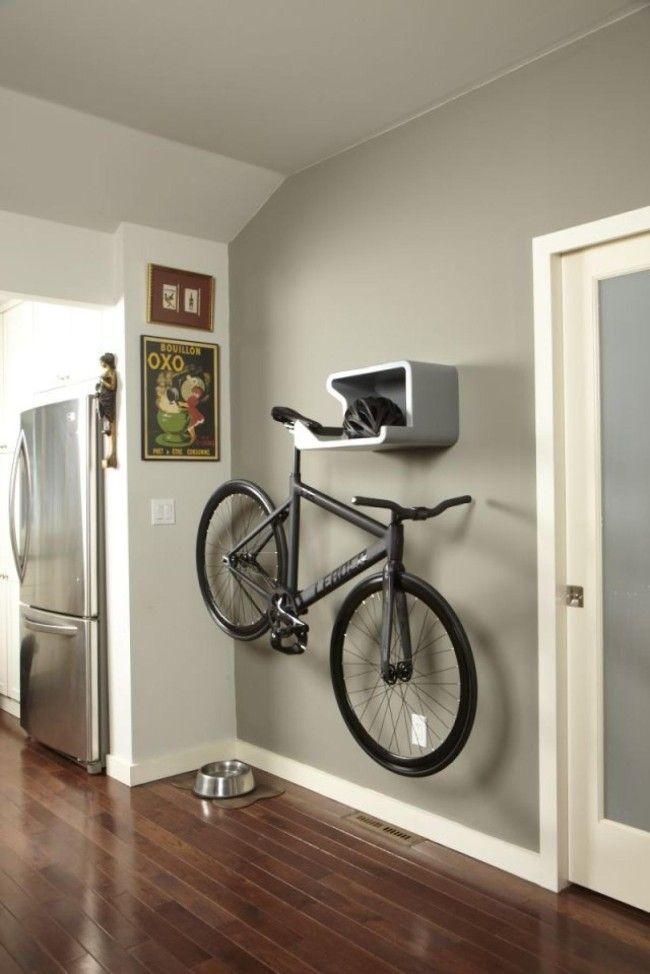 Original manera de hacer que tu bicicleta est siempre for Casetas para guardar bicicletas