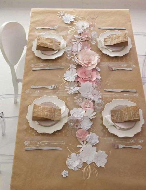 Diy divertidos y originales manteles con papel kraft casas increiblescasas increibles - Manteles originales ...