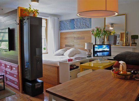 12 grandes ideas para hacer de apartamentos peque os for Remodelar departamento chico