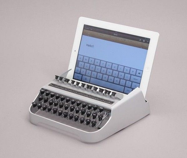 accesorio vintage teclado tablet maquina escribir