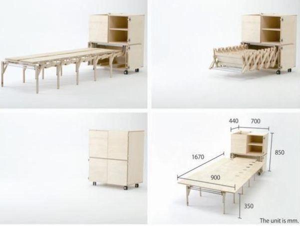 12 muebles que esconden m s de lo que parece a simple for Muebles inteligentes para espacios pequenos