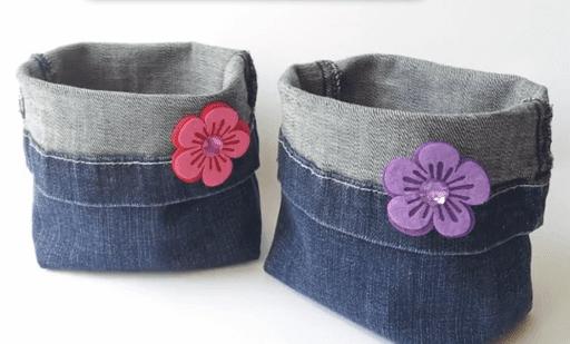 organizadores cestas jeans