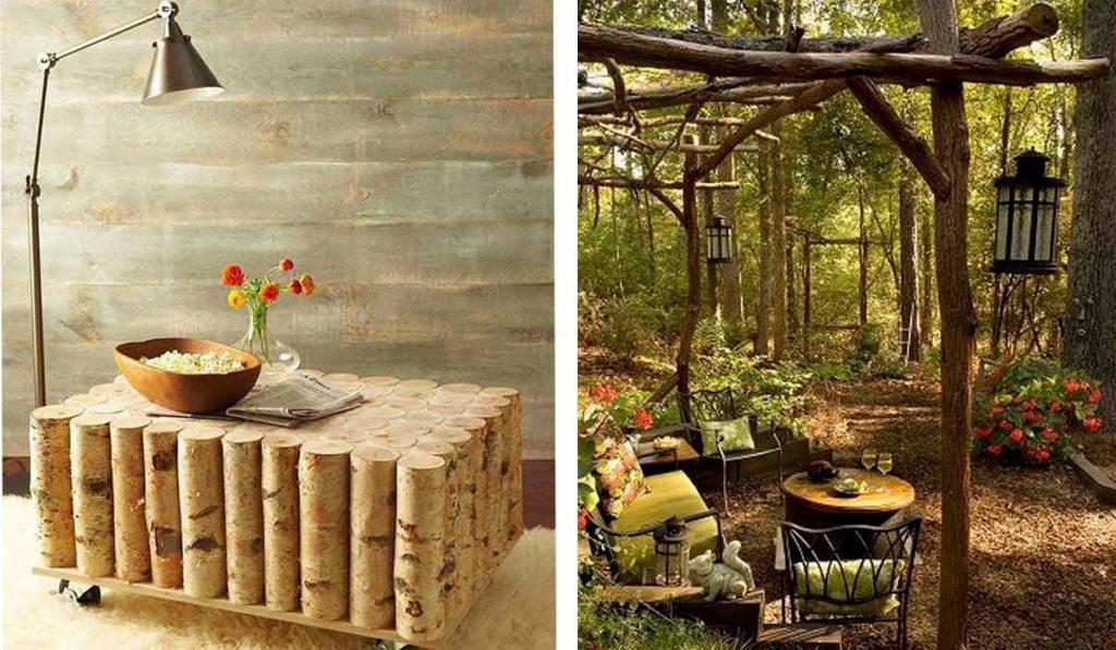 20 fant sticas ideas para reciclar troncos de rboles for Como tratar un tronco de madera para decoracion
