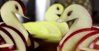 manzana cisnes destacada