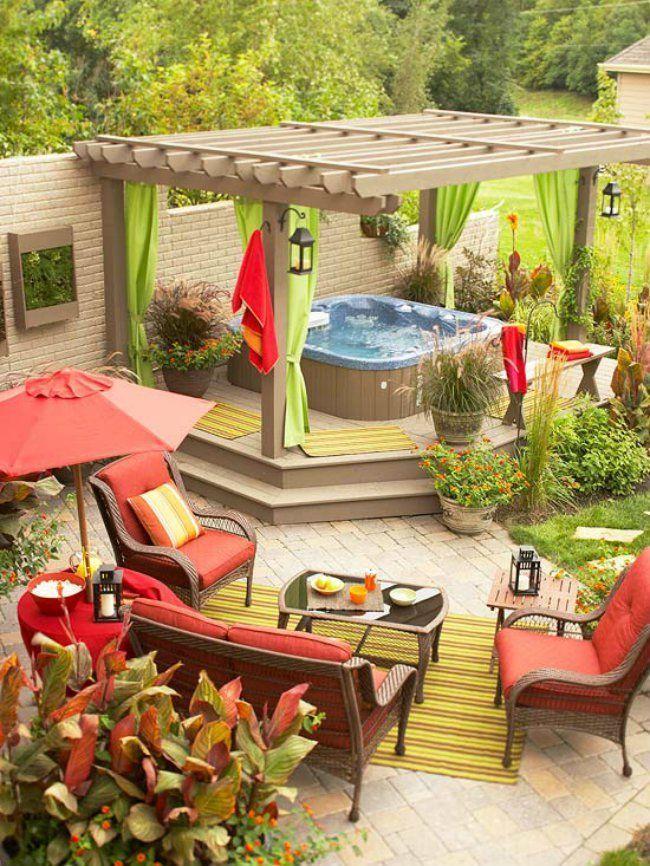 32 dise os de patios que har n que no quieras salir nunca de casa casas incre bles - Piscina en terraza peso maximo ...
