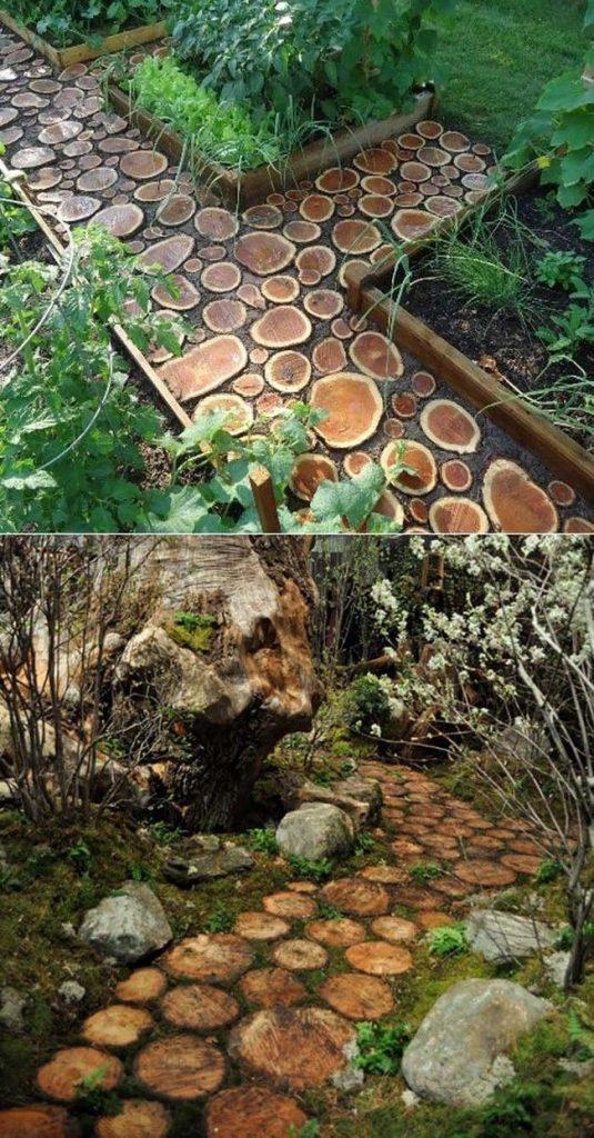 20 fant sticas ideas para reciclar troncos de rboles - Como decorar un piso sin gastar mucho ...