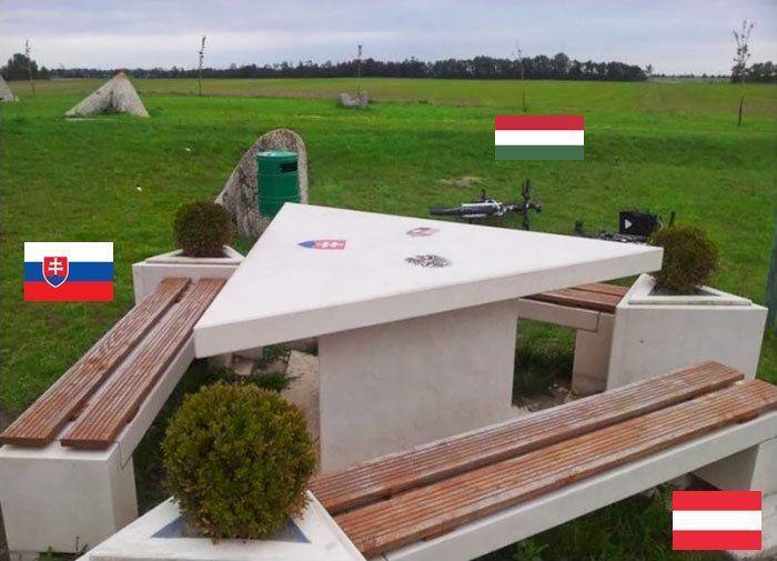 Curiosas fotografías del contraste de la frontera entre dos o más ...