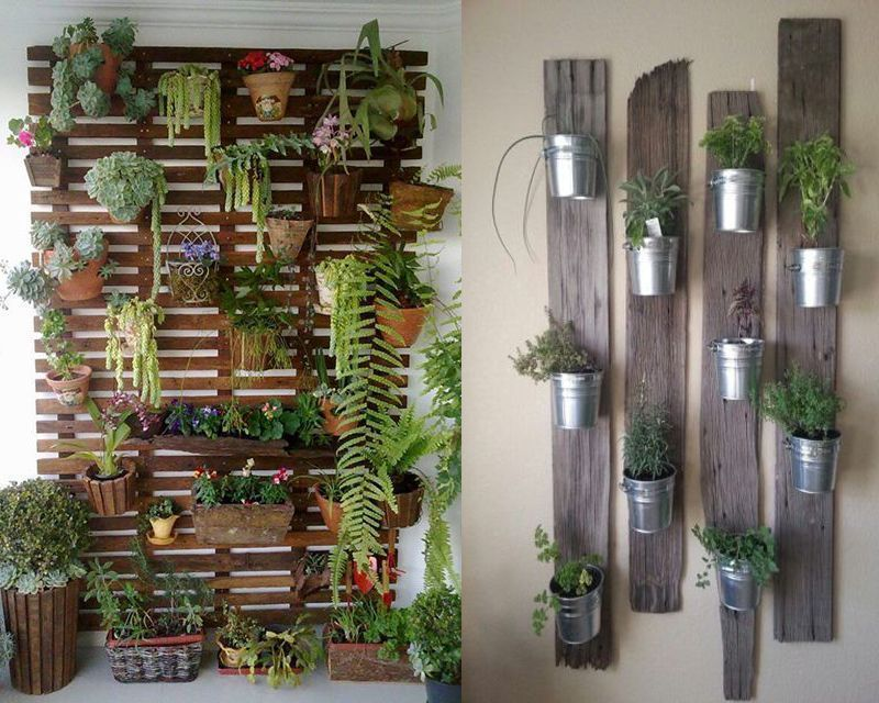 20 fant sticas ideas para decorar tu jard n con objetos for Jardines con madera y piedra