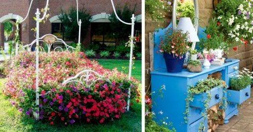 muebles jardin reciclados
