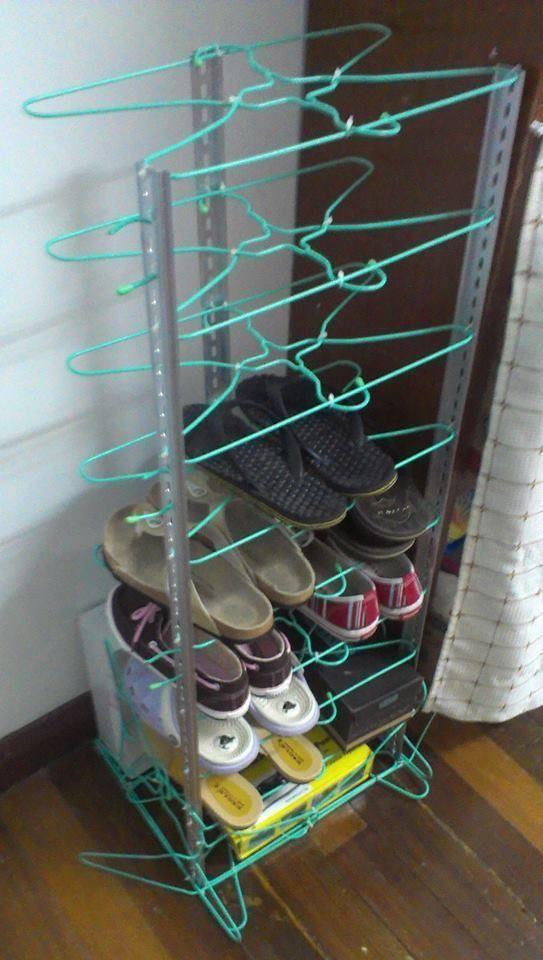 23 maneras de mantener siempre tus zapatos ordenados casas increiblescasas increibles - Como hacer un organizador de zapatos casero ...