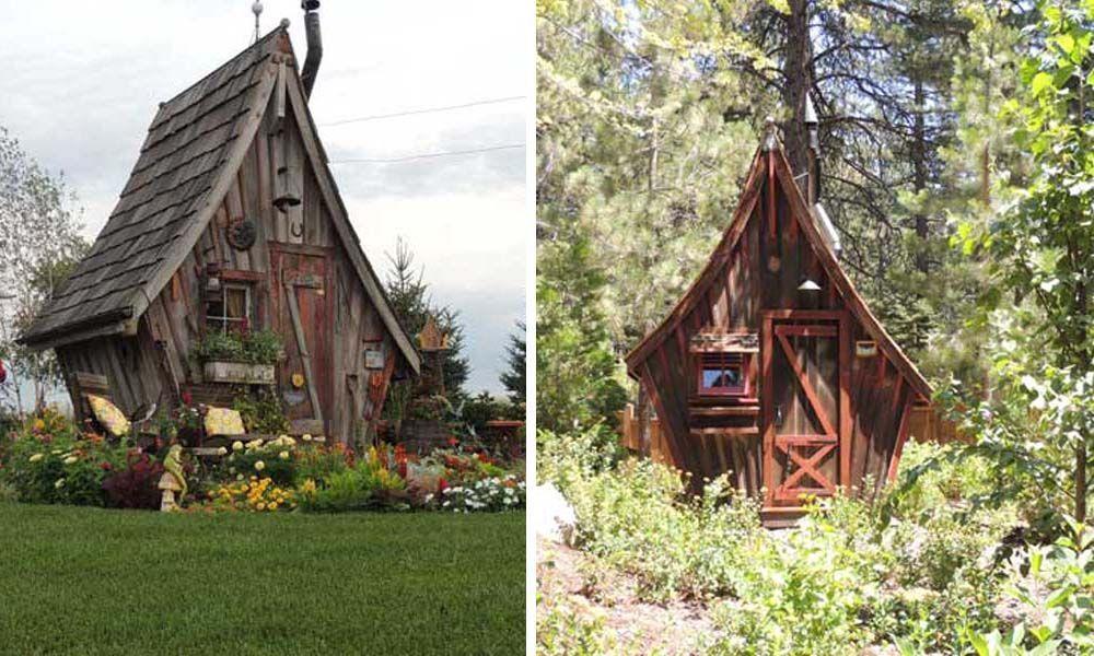 Pequeñas cabañas hechas con madera reciclada que parecen de cuento ...