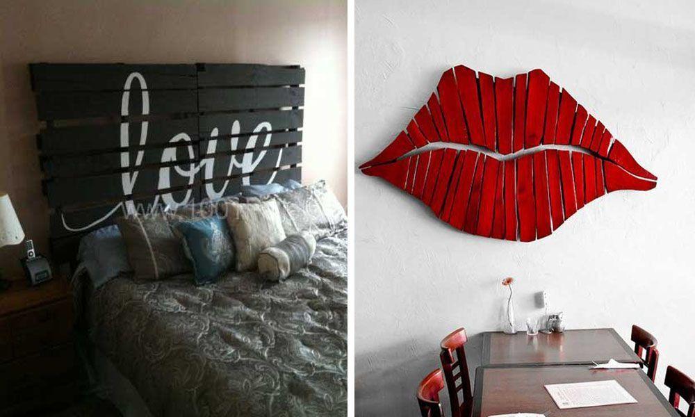 23 maneras de decorar tu casa utilizando palets casas for Maneras de decorar tu casa